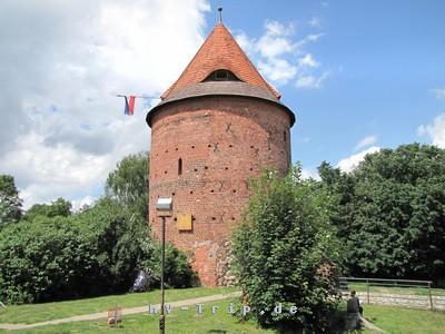 der Burgturm in Plau am See