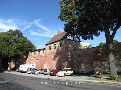 die Stadtmauer von Stralsund